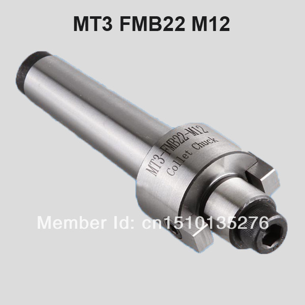 MT3 FMB22 M12 Face Mill Arbor Shell end mill arbor Morse taper tool holder(China (Mainland))