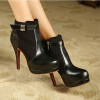 Fashion sexy high-heeled boots female winter 2013 platform thin heels platform slip-resistant martin boots