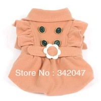 Luxurious free shipping new dog clothes for winter good quality color pink blue warm coat pet product retail and wholesale