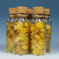 11ml  yellow agate gravel glass wishing bottle birthday gift adrift bottle star bottle glass bottle stone