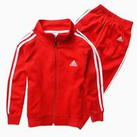 Autumn child sports set casual set male female child zipper sweater baby 100% cotton sweatshirt casual clothing