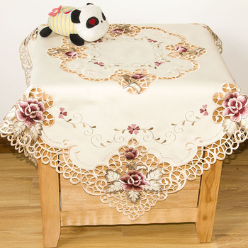 Cutout embroidered table cloth table cloth bedside cabinet cover towel cover universal gremial square multi-purpose towel
