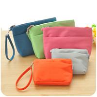 Hearts . female double zipper coin purse key wallet large capacity bag mobile phone bag