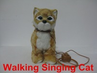 Walking Singing Electronic Pet Cat Funny Toy Plush Educational Toy Children's Best Gift