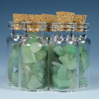 11ml  aventurine jade gravel glass wishing bottle birthday gift adrift bottle star bottle glass bottle stone