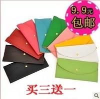 9.9 women's handbag wallet card holder long design ultra-thin bags chromophous brief candy color wallet