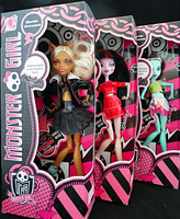 Christmas gift, the 2013 best seller the monster high dolls, 3 PCS / 3 style perfect quality and packaging, free shipping