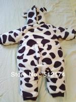 2014 new baby winter coat romper winter jacket Zebra leopard animal shapes Romper suit children baby clothing rompers