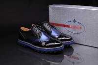 Free Shipping 2013 New Famous Brand Luxury Genuine Cow Leather Shoes Business Casual Shoes For Men 2 color for Party