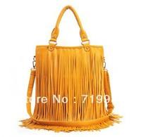 2013 New Trend Women Brand Fashion Rivet Handbags With Tassel Vintage Rivet Bags Drop Shipping