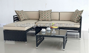 All Weather Outdoor Garden Furniture Rattan Sofa Set