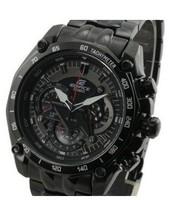 free shoping New EF-550BK-1AV Men's Chronograph Sport EF-550BK 550BK Wristwatch 1/20 Stopwatch pendulum Function