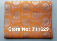 African sego gele headtie with free shipping,gele,Nigerian head tie,wholesale and retail orange color circle design