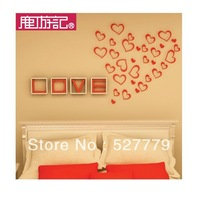 Restless heart, three-dimensional wall stickers