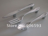 15pcs lot creative knife fork spoon kitchen cupboard handles\cabinet handles\drawer handles\furniture handle free shipping