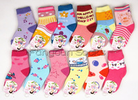 Women 100% cotton child loop pile socks thick towel socks cartoon socks baby thermal socks 1 - 3 years old socks