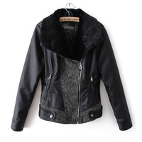 2013 hot sale free shipping new arrival causal women leather jackets women fur garment