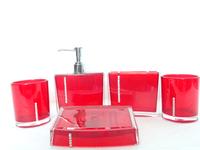 Free shipping Five pieces set of bathroom supplies acrylic toiletries kit shukoubei