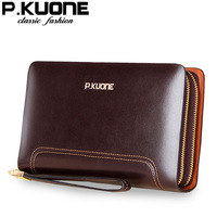 2013 casual cowhide clutch bag commercial male clutch male big capacity day clutch