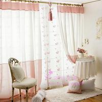 Universal type patchwork pink princess blackout curtains