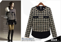 FREE SHIPPING!!!winter autumn Long sleeve shirt 2013 ladies new fashion ,S-XL ,large size