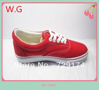 Hot seliing Factory big discount !Free shipping! lady and man canvas shoes Breathable sneaker ,5colors for choose!