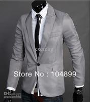 Handsome Fashion Men's turndown suit British slim fit small suit short coat Men leisure blazer business suit