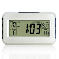 Multifunctional big screen voice activated alarm clock thermometer music alarm clock home clock