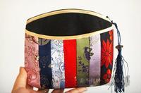 Silk tapestry satin hemp women's bags day clutch bag coin purse
