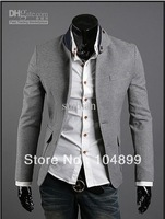 DA-2356 New Top grade Men Leisure Suit Unique The collar Slits after 3 colors