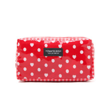 Brand cheerful cutie dots Cosmetic bag pencil case waterproof Storage bag CB019