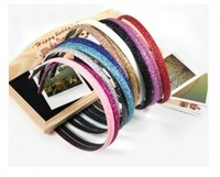 Hair accessory hair accessory powder candy color plastic hair bands headband accessories multicolor