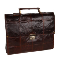 Free shipping Fashion handbag messenger bag first layer of cowhide commercial male briefcase laptop bag 1211058