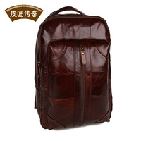 Free shipping Travel backpack fashion casual laptop bag man bag vintage genuine leather first layer of cowhide
