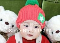 Children's hats Wholesale Korean Star labeling wool cap Winter Hats original packaging Four -color optional