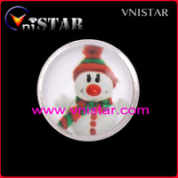 Hot Sale! Vnistar Snowman Snap Noosa Chunk Charms, Festival Button Chunks For Christmas Gifts, 30pcs/ lot, NC184
