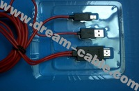 Free shipping MHL to HDMI adapter cable for Galaxy SIII i9300 20PCS/lot
