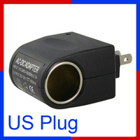 110V AC to 12V DC Car Cigarette Lighter Socket Charger Power Adapter Converter USA US Plug