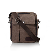 cotton canvas casual small waist pack shoulder messenger bag multi-purpose men's handbag outdoors sport hiking travel gift flag
