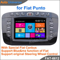 "6.2"" Car GPS DVD for Fiat Punto With GPS DVD IPOD BT RDS Radio USB SD function Free Card With Map"