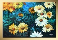 Hand painting oil painting flower painting decorative painting mural hh-14