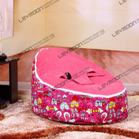 FREE SHIPPING baby seat with 2pcs dark red up covers baby bean bag chair kid's bean bag seat cover only bean bag furniture