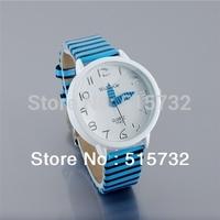 9642 WaMaGe leather watch woman Ladies Fashion Color Stripes Strap Wrist Watch