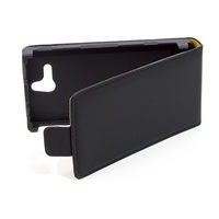 Free Shipping New Black Color Flip Leather Case Cover for Sony Xperia U ST25i