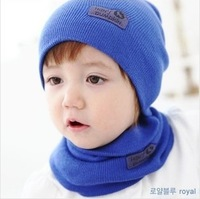 fashion Winter Cap Baby Girls/Boys Hat Warm Hat Children Hat and Scarf set