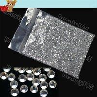 New 20000pcs Clear Glitter 2mm Hot Fix Rhinestone, Crystal Rhinestone Nail Art Decoration