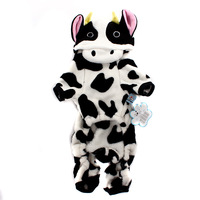 Pet supplies pet cow turned installed dog clothes pet autumn and winter thermal clothes teddy
