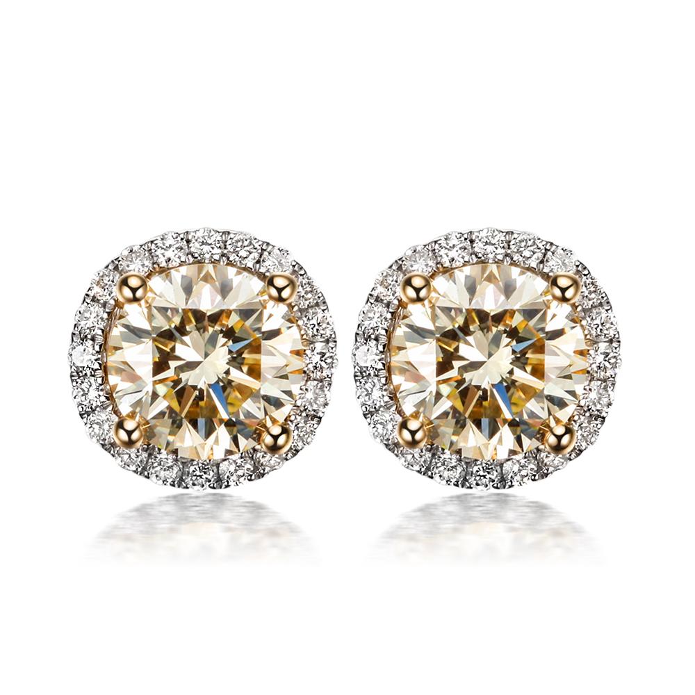 Moissanite Earrings White Gold 18k White Gold Moissanite