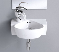 Free drains free shipping 7881 Ceramic Rectangular Counter top Cabinet Basin Bathroom Sink