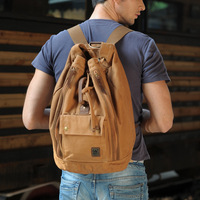 Summer new retro casual canvas bag backpack bag men's shoulder bags computer bags backpacks tide doubles